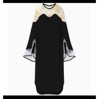 マメ(mame)のmame silk rame print dress(ロングワンピース/マキシワンピース)