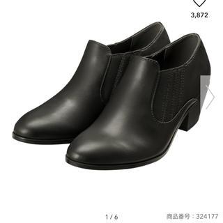 ジーユー(GU)のGU ウエスタンショートブーツ ブラック L(ブーツ)