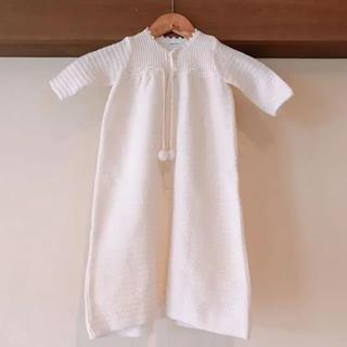 ファミリア(familiar)の赤ちゃんの城 新生児ベビードレス 編みニット(セレモニードレス/スーツ)