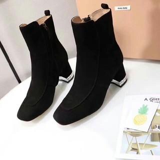 ミュウミュウ(miumiu)の美品☆miumiu ブーツ☆37ブラック(ブーツ)