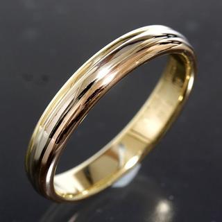 カルティエ(Cartier)のカルティエ cartier スリーカラー リング size66 K18 4mm幅(リング(指輪))