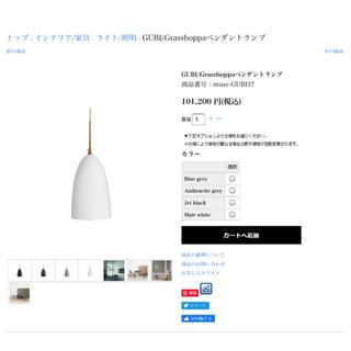 アクタス(ACTUS)の新品■grashoppa■グラスホッパー■アクタス購入 ペンダントライト(天井照明)