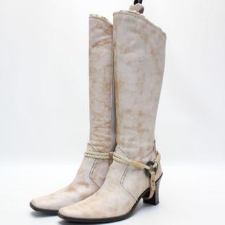 エレガンスヒミコ(elegance卑弥呼)のelegance卑弥呼 本革アンティーク調ブーツ(24.5cm)美品(ブーツ)