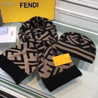 フェンディ(FENDI)のニット帽/ビーニー マフラー/ショール2点 FENDI(ニット帽/ビーニー)