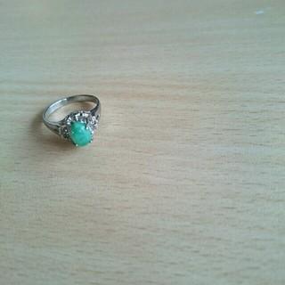指輪 リング エメラルドグリーン(リング(指輪))