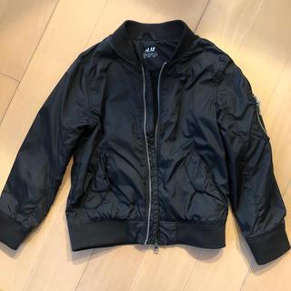 エイチアンドエム(H&M)のジャンバー 黒 120(ジャケット/上着)