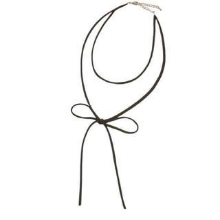 イエナ(IENA)の新品 mode robe ラリエット スエードチョーカー(ネックレス)