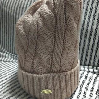 ジエンポリアム(THE EMPORIUM)のニット帽 ピンクベージュ THE EMPORIUM(ニット帽/ビーニー)