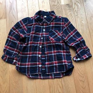 ムジルシリョウヒン(MUJI (無印良品))の無印良品 ネルシャツ 100(ブラウス)