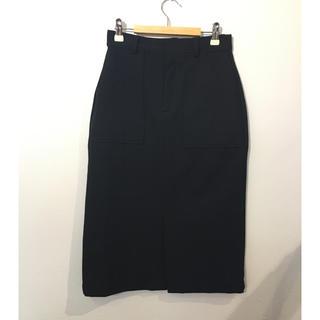 オペークドットクリップ(OPAQUE.CLIP)のOPAQUE.CLIP 前スリット  タイトスカート #Cattleya(ひざ丈スカート)