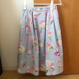 チェスティ(Chesty)のChesty バードフラワーブーケスカート(ひざ丈スカート)