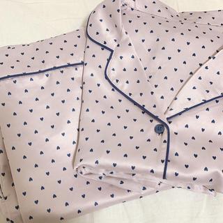 GU - GU ピンク×ハート柄 パジャマ
