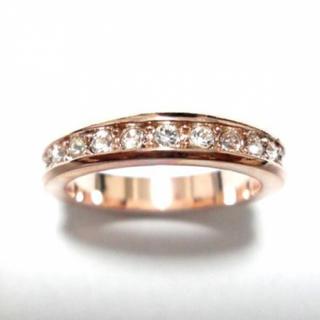 10号 フルエタニティ スワロフスキー ピンクゴールドリング(リング(指輪))