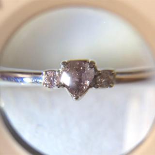 天然 珍しいの色 ピンクダイヤモンド リング(リング(指輪))
