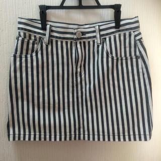 ローリーズファーム(LOWRYS FARM)のLOWRYSFARMストライプ柄スカート(ミニスカート)