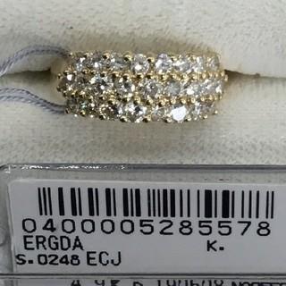 限定 K18 ダイヤモンドパヴェピンキーリング2ct4, 7g#4 (リング(指輪))