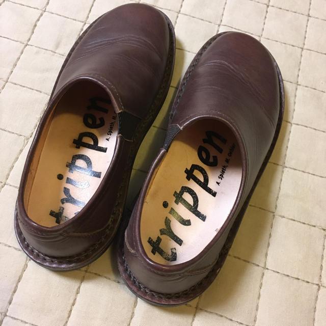 trippen(トリッペン)のTrippen トリッペン yen エン スリッポン 37 茶 ブラウン レディースの靴/シューズ(ローファー/革靴)の商品写真