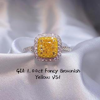 gia♡1カラットイエローダイヤモンド指輪(リング(指輪))
