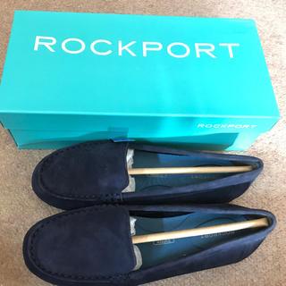 ロックポート(ROCKPORT)のROCKPORT  モカシン  ネイビー  22.5(スリッポン/モカシン)