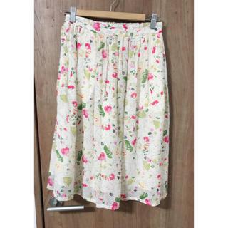 フィグロンドン(fig London)の花柄スカート(ひざ丈スカート)