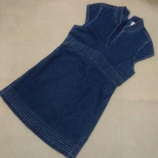 ネクスト(NEXT)のロンドンで購入★NEXTデニムワンピース ジャンパースカート(ワンピース)