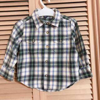 ギャップ(GAP)のGAP キッズ チェックシャツ 90㎝(ブラウス)