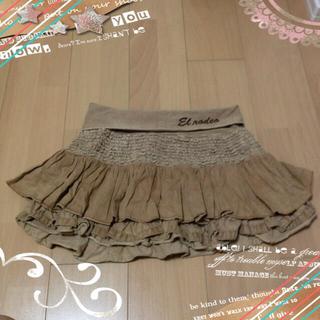 エルロデオ(EL RODEO)のELRODEOのスカート【ベージュ】(ミニスカート)