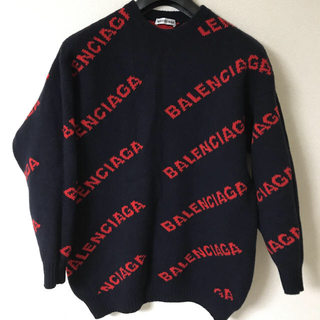 バレンシアガ(Balenciaga)のBALENCIAGA バレンシアガ ロゴ ニット セーター xs(ニット/セーター)