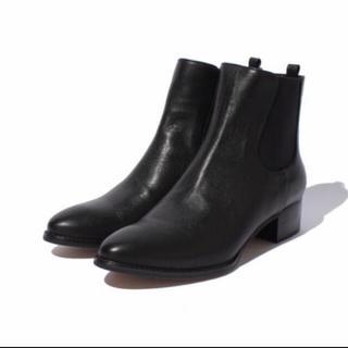 ロペ(ROPE)の【Oggi掲載】サイドゴア本革ローヒールブーツ(ブーツ)