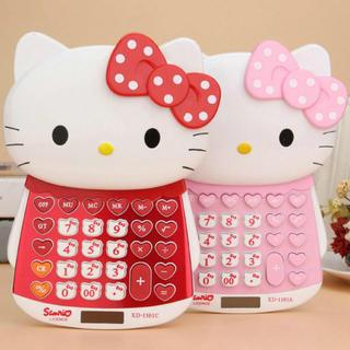 ハローキティ(ハローキティ)のキティ♡電卓 計算機  赤 大きめです。(その他)