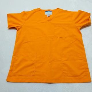 医療 スクラブ(オレンジ)(Tシャツ/カットソー(半袖/袖なし))