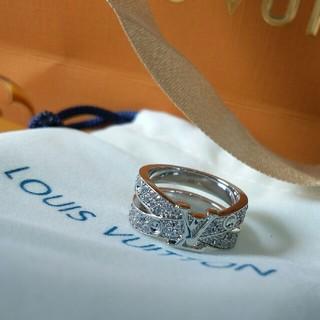 ルイヴィトン(LOUIS VUITTON)の新品 ルイヴィトン LV リング 指輪 シルバー 超美品(リング(指輪))