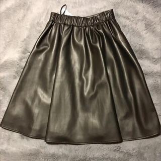 スコットクラブ(SCOT CLUB)のスコットクラブ  レザースカート(ひざ丈スカート)