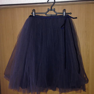 バーニーズニューヨーク(BARNEYS NEW YORK)のチュールスカート (ひざ丈スカート)