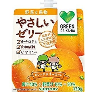 サントリー - サントリー グリーンダカラ やさしいゼリー オレンジ&キャロット 130g