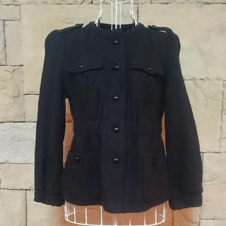 マカフィー(MACPHEE)のMACPHEE ウール暖かジャケット(ノーカラージャケット)
