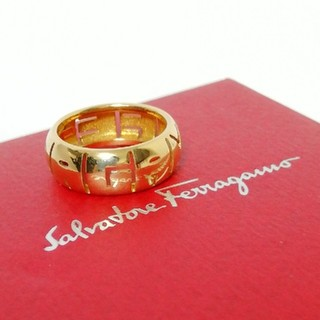 サルヴァトーレフェラガモ(Salvatore Ferragamo)の48 フェラガモ ロゴリング 750 4.5g 9号(リング(指輪))