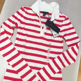 トミーヒルフィガー(TOMMY HILFIGER)のTOMMY HILFIGER♡赤×白ボーダーラガーシャツ 新品(ポロシャツ)