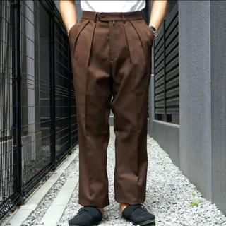 コモリ(COMOLI)のNEAT WIDE Cotton kersey ニート 19-02CKW パンツ(スラックス)