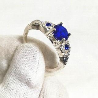 指輪 リング ブルーサファイア パワーストーン アクセサリー レディース メンズ(リング(指輪))