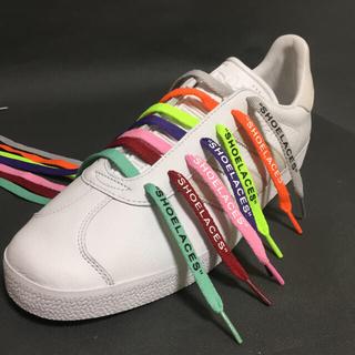 高品質❗平紐 🍊新色10色🍊カスタムシューレースSHOELACES靴ひも(スニーカー)