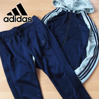 adidas - 超美品 OT アディダス レディース ジャージ 上下 ネイビー