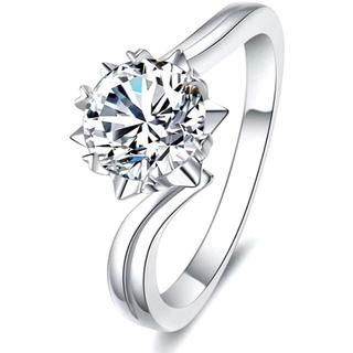 (新品)雪の結晶 指輪 Ribivaul リング CZダイヤモンド 13号(リング(指輪))