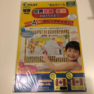 PILOT - PILOT 知育玩具 おふろシール 世界地図と国旗