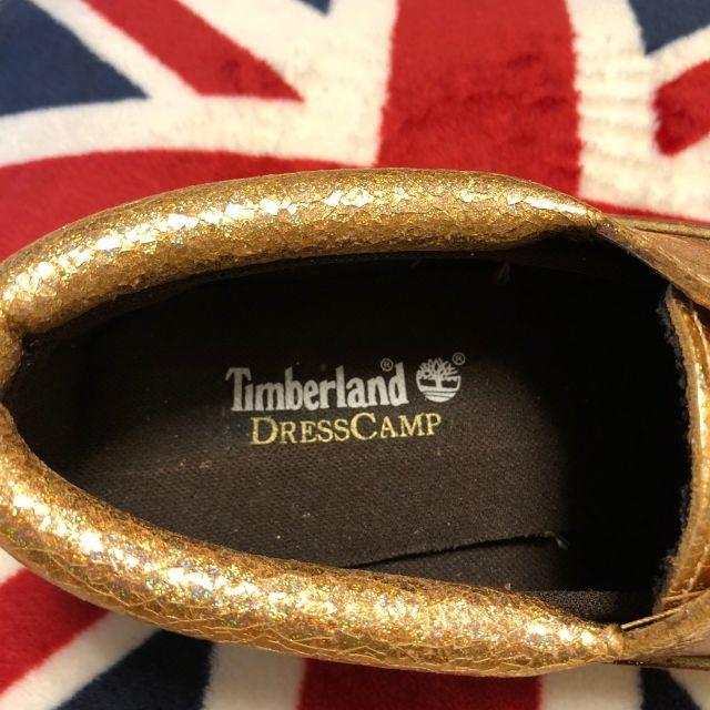 Timberland(ティンバーランド)のTimberland モカシン ラメ  ゴールド ティンバーランド 値下しました メンズの靴/シューズ(スリッポン/モカシン)の商品写真