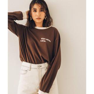 ユナイテッドアローズ(UNITED ARROWS)のPUBLIC TOKYO  有末麻裕子さんコラボ トリムロゴロンT(Tシャツ(長袖/七分))