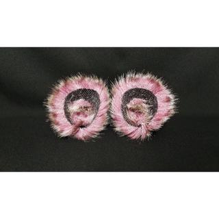 【 パープルケモノネコミミ 】ヘアピンねこみみ◆髪に着けられる猫耳(ヘアアクセサリー)