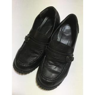 レディース黒革靴(ハイヒール/パンプス)