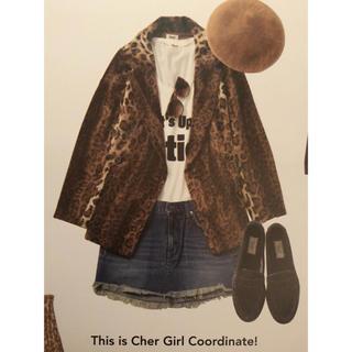 シェル(Cher)のCher フルーツケイク レオパード柄 ジャケット コート sly moussy(毛皮/ファーコート)