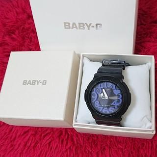 ベビージー(Baby-G)のCASIO Baby-G 腕時計(黒×紫)レディース G-shock babyG(腕時計)